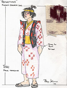 Costume design for Yoshi by Maya Ishiura