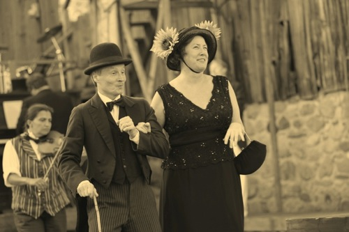 Marie's film debut with Charlie Chaplin (Robert Winslow)